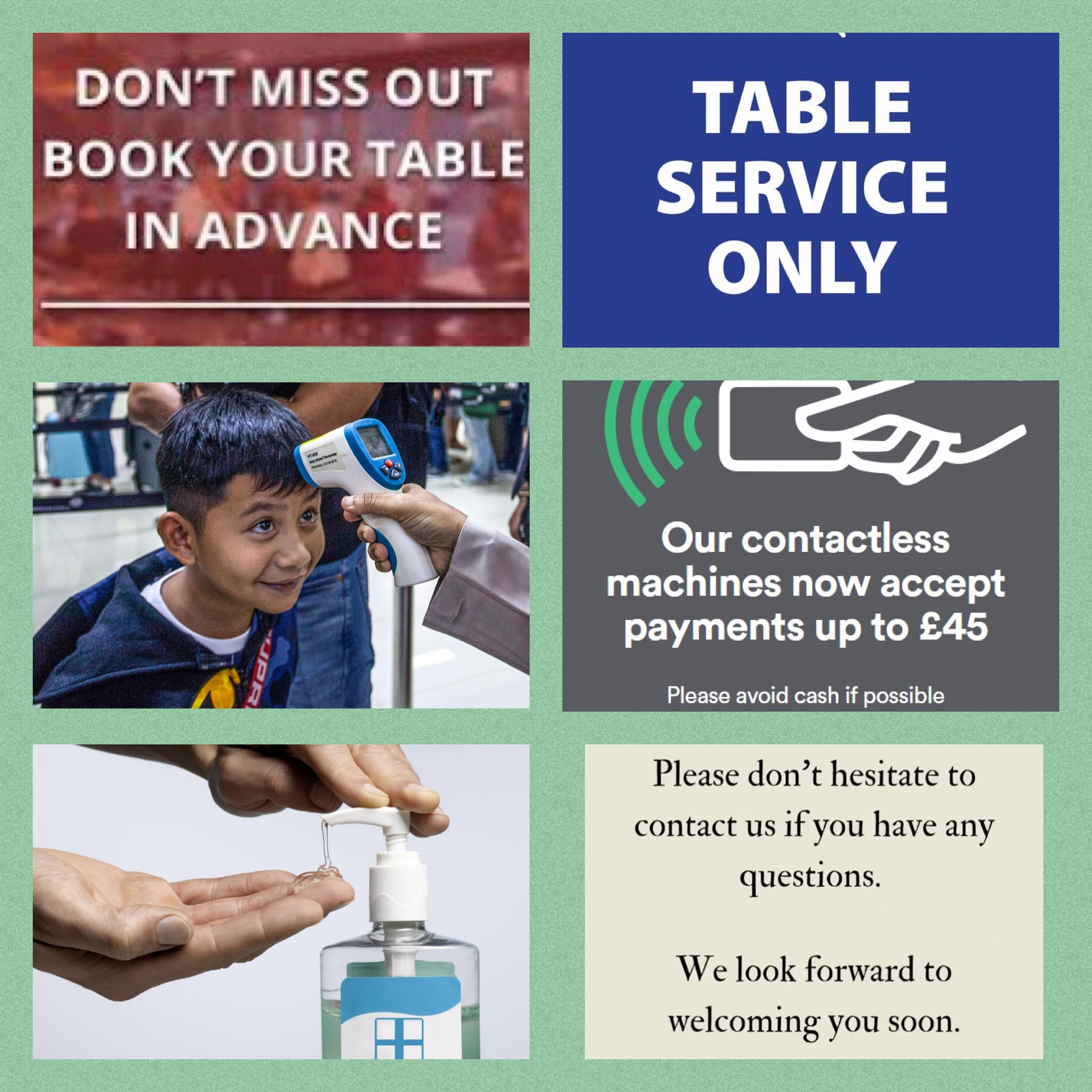 Customer Info Covid 19