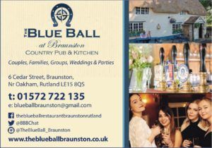 Business Info Card The Blue Ball at Braunston