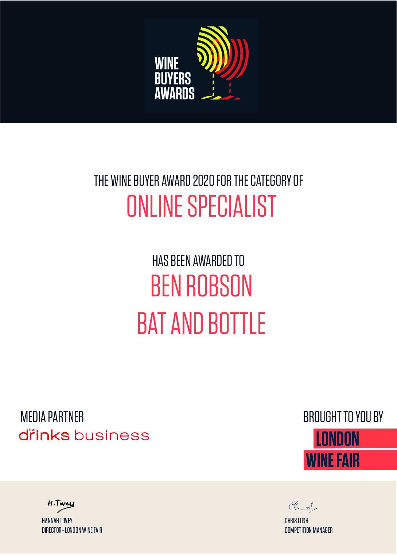 UK Online Specialist WIne Buyer Winner