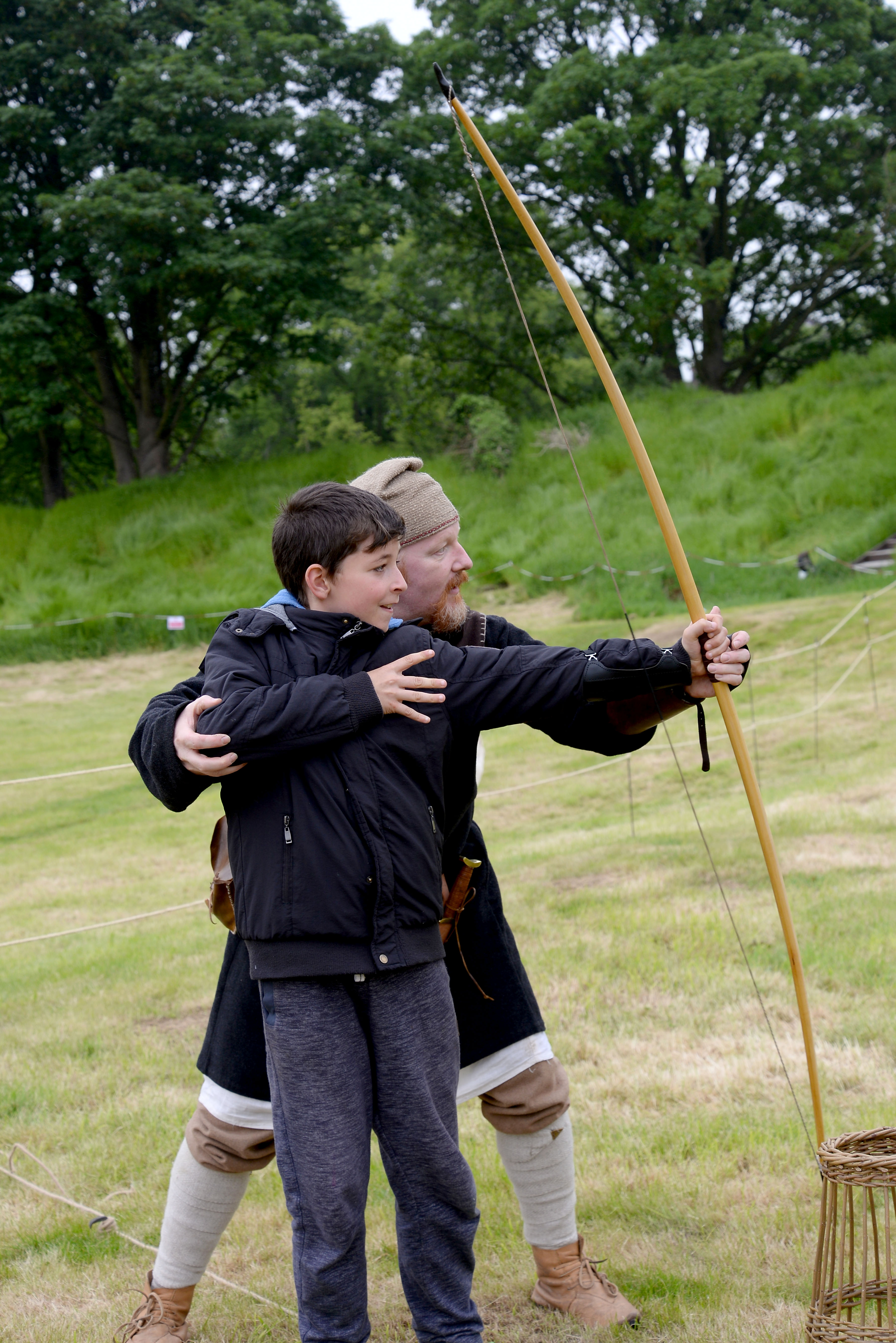 Kids archery at Oakham Castle
