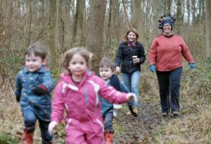 Fineshade kids walking outdoors attraction