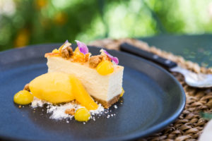 Lemon Cheesecake, passion fruit sorbet