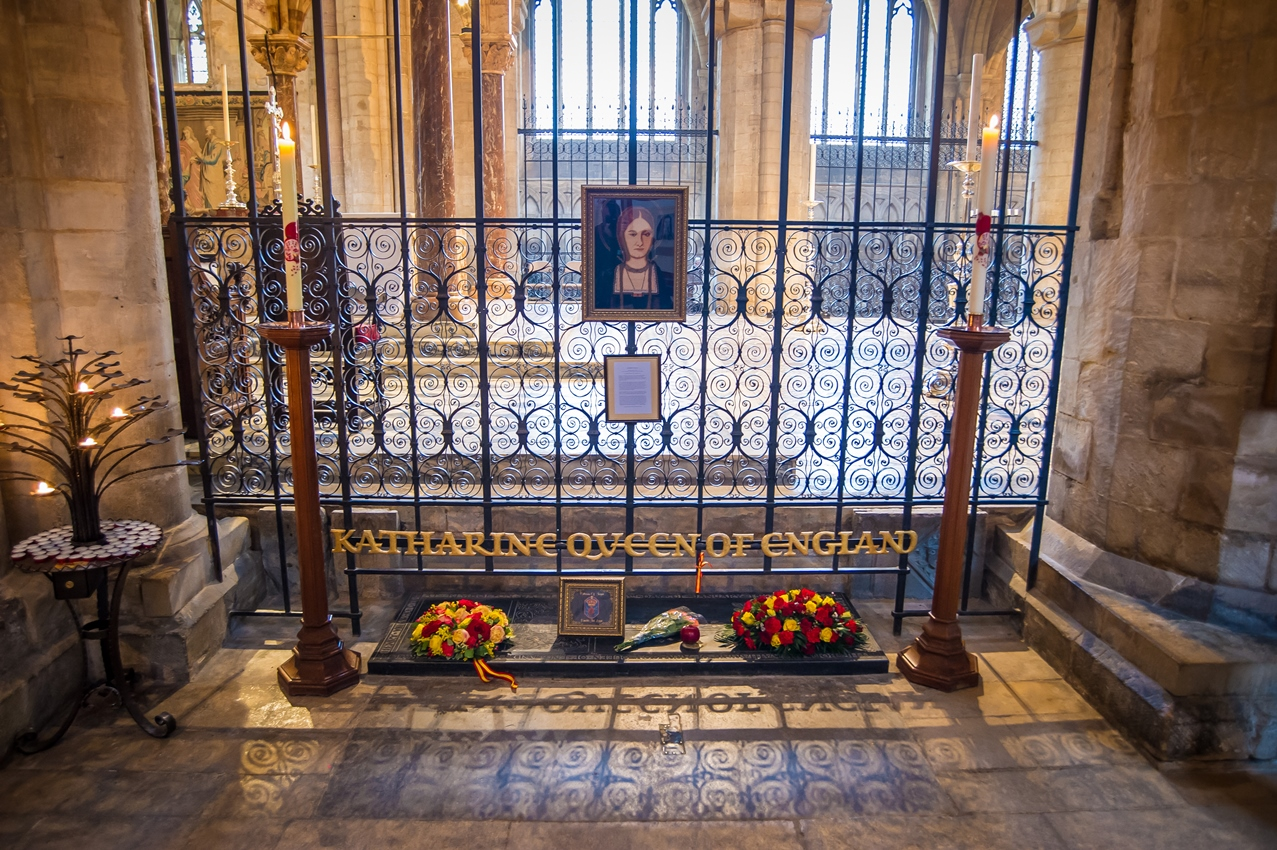 Katharine of Aragon's tomb within Peterborough Cathedral