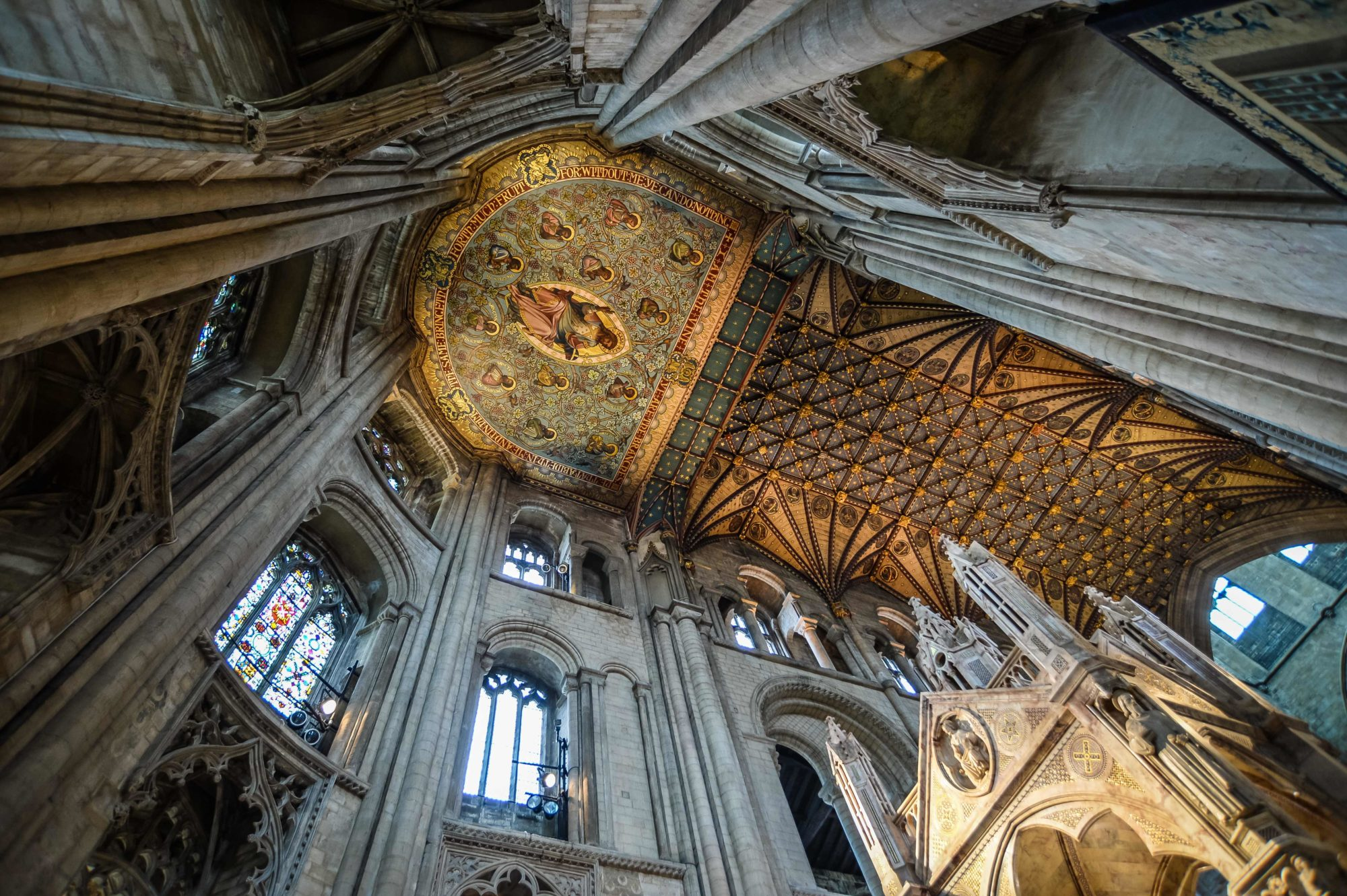 Ceilings at Peterborough Cathedral