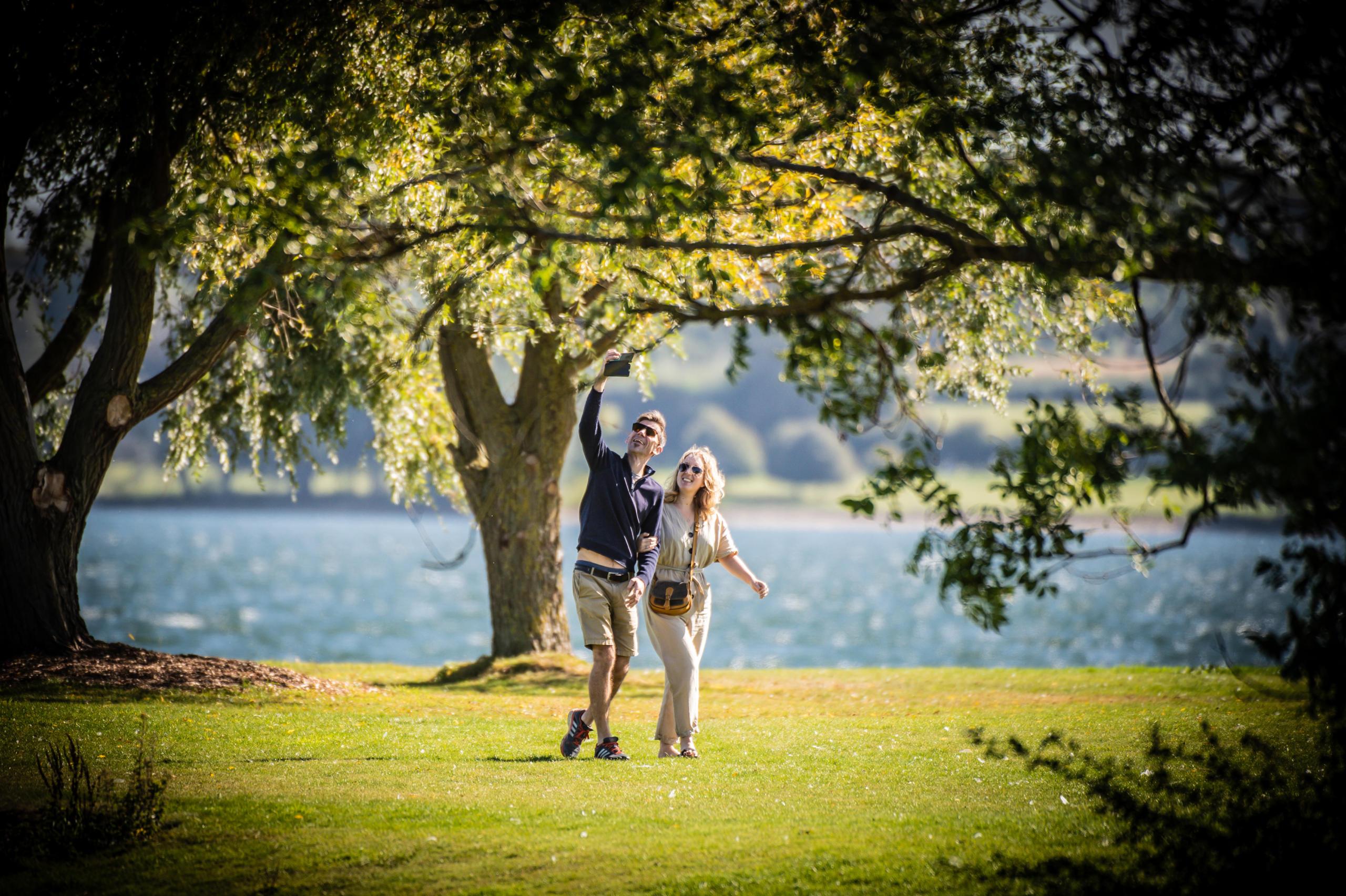 Rutland Water couple walking