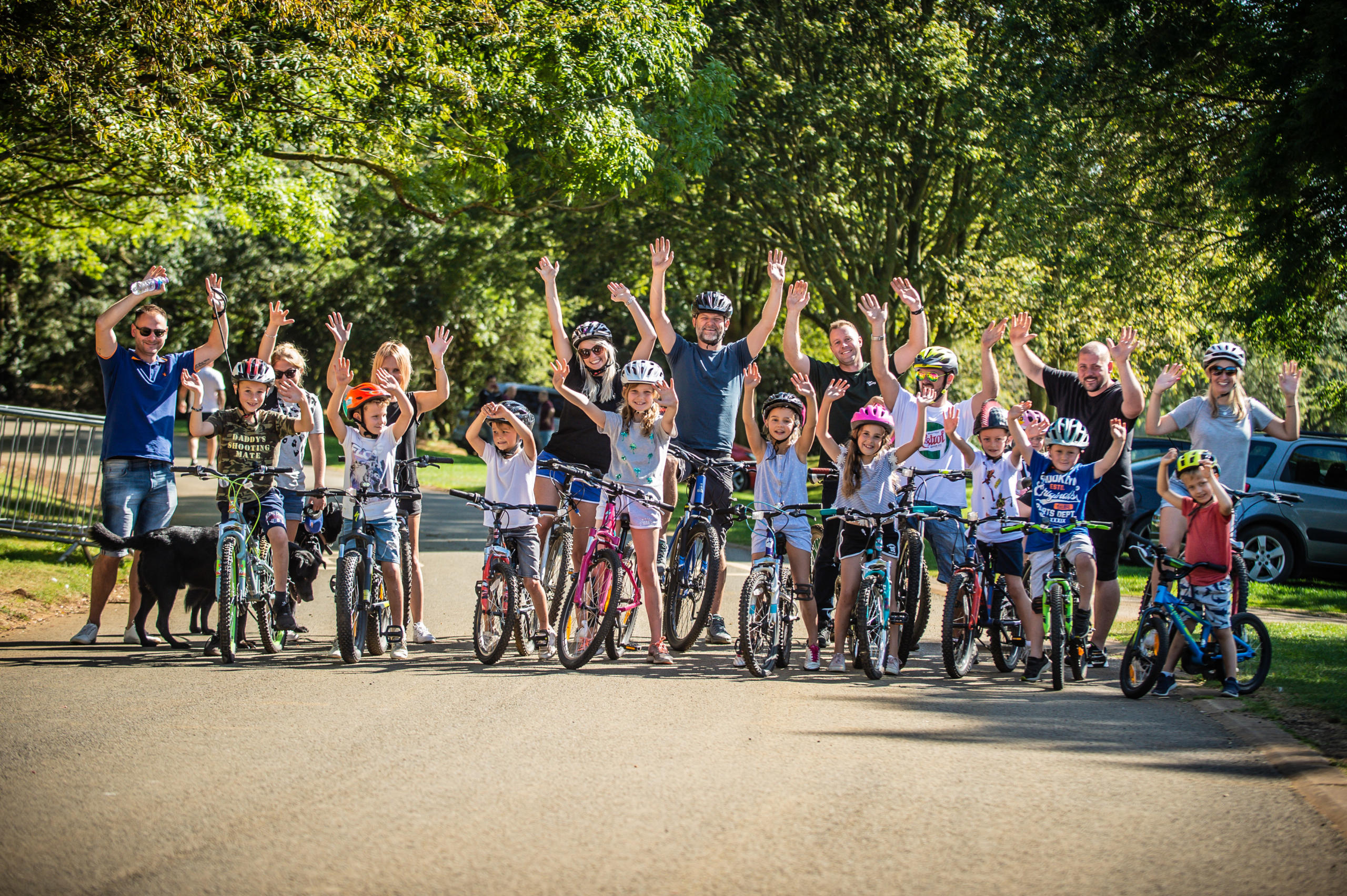 Rutland Water cycling family group