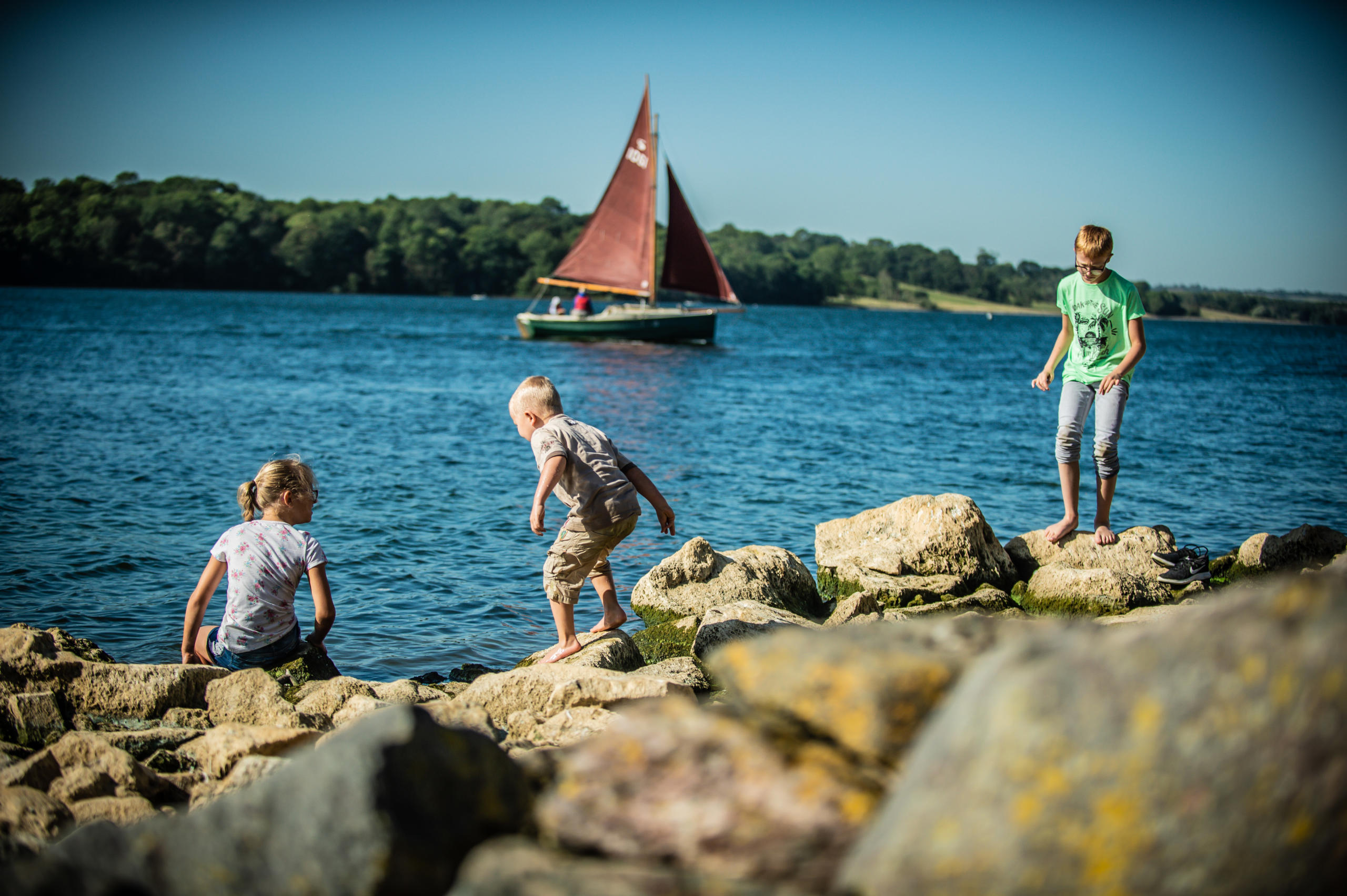 Rutland Water kids playing