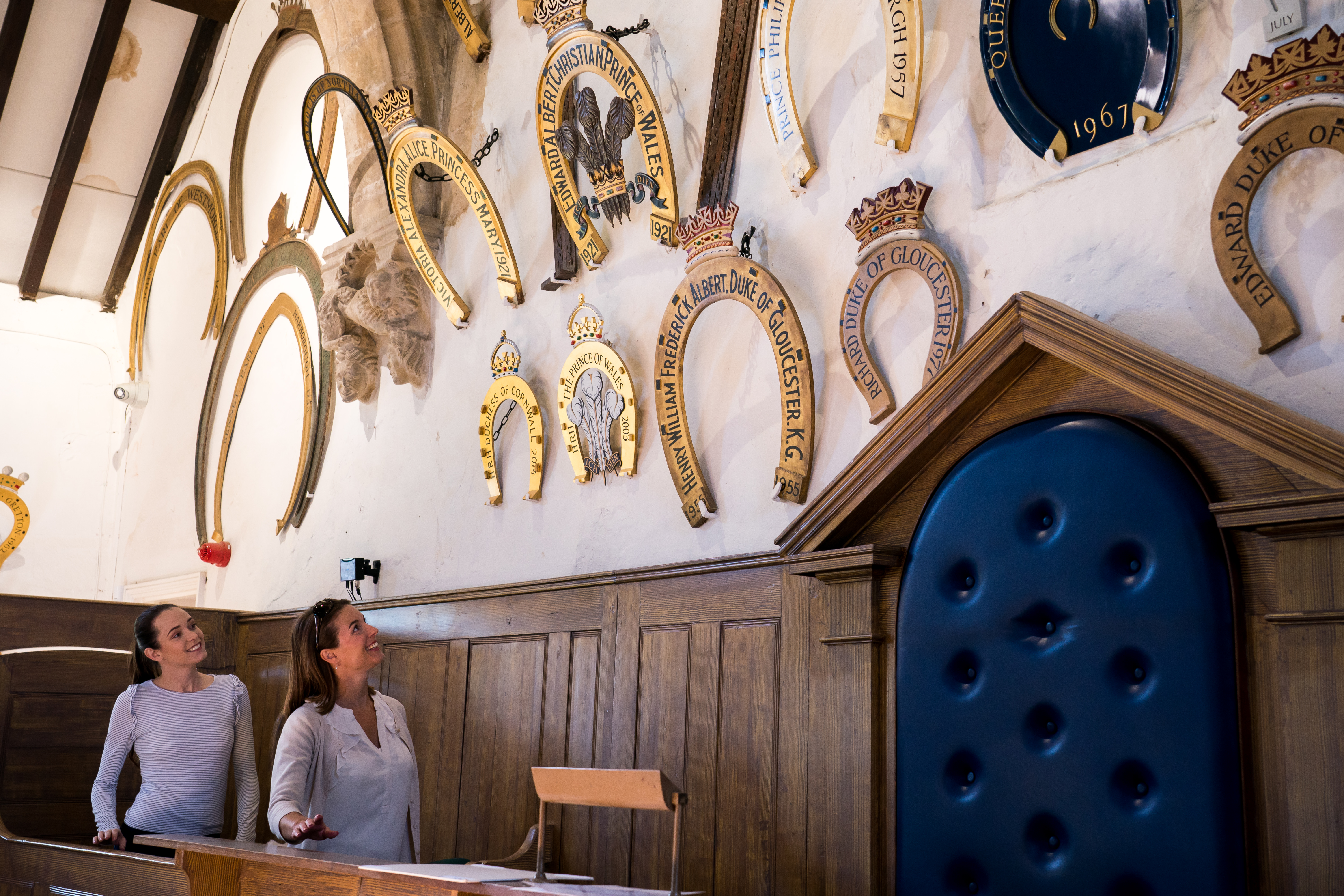Oakham Castle horseshoes