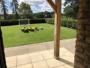 Moo Cow Cottage, garden, accommodation