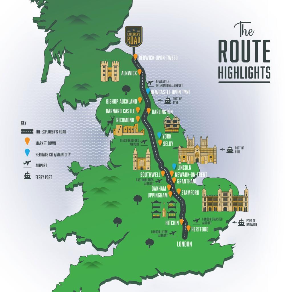 The Explorers Road UK Map